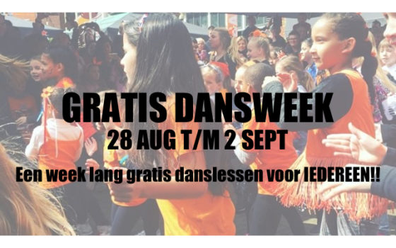 Gratis Dansweek 28 aug t/m 2 sept